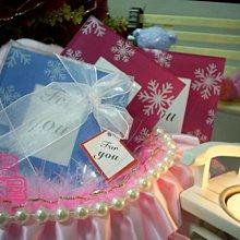 超低促銷~蓓蓓結婚禮品屋~歐美婚禮小物~藍色雪花相框玻璃杯墊~相框杯墊/婚禮小物/佈置~^0^