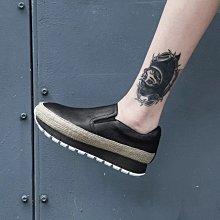 真皮厚底鞋 DANDT 百搭牛皮麻編厚底休閒鞋 (FEB 10) 同風格請在賣場搜尋 XIL 或 歐美鞋款