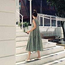 細肩帶洋裝 韓 減齡波點連身裙 艾爾莎【TAK7737】