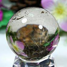 孟宸水晶 = A9016  (100%天然超清透鈦水晶球186克)