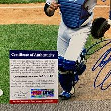 大聯盟 MLB 名人堂 Mike piazza 皮耶薩 最強補手 道奇隊 8x10 親筆簽名照 PSA/DNA 認証mike trout
