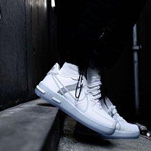 NIKE AIR FORCE 1 REACT QS 純白 冰藍 解構 低幫 厚底 滑板鞋 CQ8879-100 男女鞋
