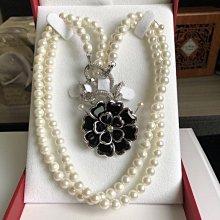 Batino 7mm 珍珠項鍊 配山茶花扣 百變多用項鍊 送禮自用 母親節 生日 禮物