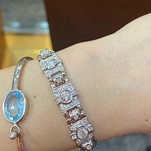 總重1.99克拉以上天然鑽石手鍊,手工訂製高級珠寶,鑑賞價188000元,搭配高等級超亮小鑽,只有一個值得收藏,超厚重14K金,大器華麗款式