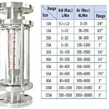 面積式流量計法蘭牙口衛生夾接由令插管化工不銹鋼SUS 304 316塑膠水空氣液體 氣體 Flowmeter