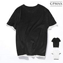 CPMAX 韓系Oversized假兩件五分T恤 大尺碼 t恤 大尺碼t恤 oversized 假兩件t恤 T131