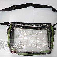 【威威五金】特價綠色炫彩型Z6】全新 透明特厚多層式斜背式工具袋 工作包 側背式無塵包 科學園區用透明包 無塵室專用背袋