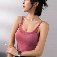 獨家運動bra 性感美背健身訓練背心 跑步防震舒適 無鋼圈瑜伽背心運動內衣 韻律 慢跑 有胸墊S152(WM運動專賣店)