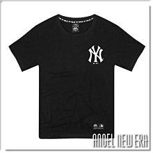【ANGEL NEW ERA】Majestic MLB 短T NY 紐約洋基 經典黑 前Logo 印花 潮流 穿搭