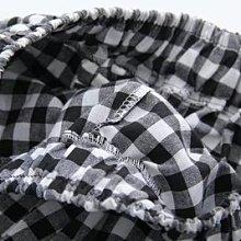【29754】褲子 日系森女系格子繫帶休閒長褲☆*藍荳荳小舖*☆ (現貨)