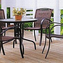 現代風休閒藤桌椅組