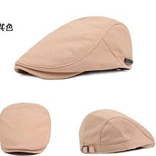 (台灣現貨)透氣純色棉麻貝蕾帽.前進帽.小偷帽.打鳥帽.鴨舌帽,可調整男女鴨舌帽(W385)