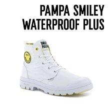 =CodE= PALLADIUM PAMPA LITE SMILEY FEST WP 防水軍靴(白)76629-100女