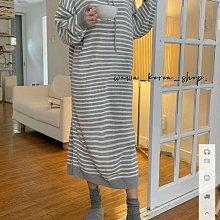 正韓:長袖長版洋裝(2色)