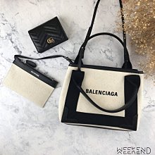 【WEEKEND】 現貨 BALENCIAGA 巴黎世家 小款 NAVY CABAS XS 手提 肩背包 托特包 帆布