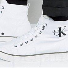 CK Calvin Klein 卡文克萊高筒帆布鞋懶人鞋休閒鞋 小白鞋 8.5號  9號  9.5 號 愛Coach包包