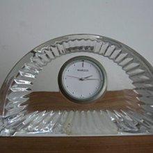 WATERFORD 桌鐘弦月型CRYSTAL水晶 桌鐘