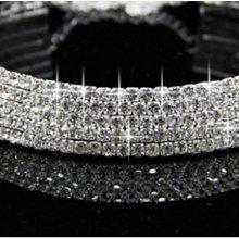 新娘項鍊 5排水鑽項鍊項圈 項鍊飾品鑽石項鍊 宴會飾品 新娘飾品婚宴