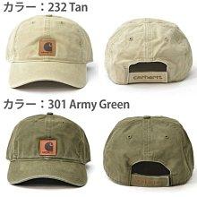 【HOMIEZ】CARHARTT 經典款 復古水洗 BALL CAP 皮標Logo 彎沿老帽 可調整