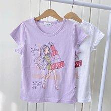 【現貨125-165】韓國童裝~春夏大童 BLUE TEEN 時尚女孩棉T 短袖上衣