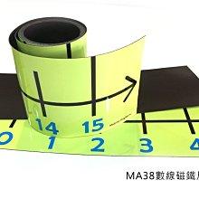 數學磁鐵教具:<MA38數線磁鐵尺(綠色或藍白可選)>磁鐵可吸黑板 大尺寸 數線學具--MagStorY磁貼童話