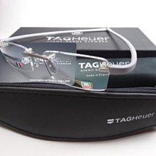 【信義計劃眼鏡】全新真品 TAG Heuer 3101鈦金屬無框 搭配豪雅錶 Markus 超越 詩樂 Slights T
