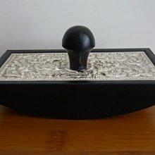 Ink Blotter 英國925純銀浮雕裝飾壓墨器