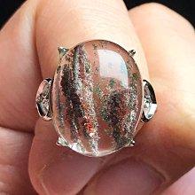 天然幽靈水晶戒指 晶體乾淨透亮花幽靈白紅綠幽靈異象水晶925銀活圍戒指 飾品配件《舒唯水晶》