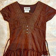 【Good Day】美國品牌 Disorderly Kids 少女洋裝 咖啡色腰綁帶款 全新現貨