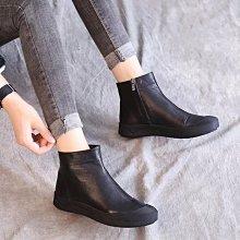 真皮舒適短靴 DANDT 質感牛皮拉鍊短靴(NOV 24 ALI) 同風格請在賣場搜ALI或歐美鞋