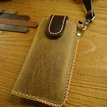 KH手工皮革工作室MIT全牛皮三星S20+ S20FE Note20頸掛式手機皮套 手工皮件 磁釦手機套 情人節生日禮物