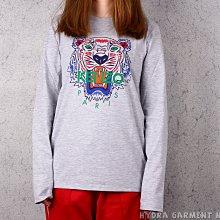 【HYDRA】17AW Kenzo Kids Tiger L/S T-shirt 淺灰 長袖 T恤 【KK10518】