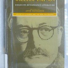 【月界】Essays on Renaissance Literature_William Empson〖大學文學〗AGM