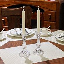 熱銷#歐式水晶透明西餐玻璃蠟燭臺浪漫餐廳燭光晚餐情人節裝飾婚慶擺件#燭臺#裝飾
