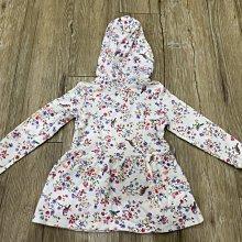 美國童裝名牌Carters 白底碎花毛巾布連帽外套+紫色打底褲兩件套組 Hoodie & Legging Set 4T