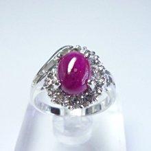 【連漢精品交流中心】《天然紅寶石 2.11CT 》14白K金設計款奢華 紅寶石鑽戒 (女戒)~