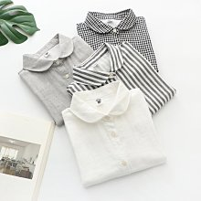 BEFE 2021夏新品 日系清新舒適 物超所值 雙層棉紗 短袖襯衫 圓領/立領兩款