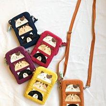 日本卡拉貓~三貓直式手機包 迷你斜背包