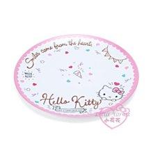 ♥小花花日本精品♥HelloKIitty大臉慶祝造型布丁狗坐姿氣球櫻桃造型甜點沙拉圓盤盤子水果盤裝飾盤餐盤~3