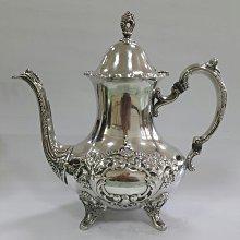 447高檔英國鍍銀壺 Vintage Silverplate Ornate teapot Vintage