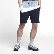 nike sportswear big swoosh 棉質 大勾 短褲 棉短褲 ar3162-438 藍白 男