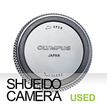 集英堂写真機【3個月保固】中古良上品 / OLYMPUS 原廠 鏡頭後蓋 OM卡口 鏡頭用 #5 13299