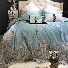 下標前 請聯絡客服 確定有貨在下標 高檔法式絲棉蕾絲四件套120埃及長絨棉樣板房奢華歐式綢緞1.8床品
