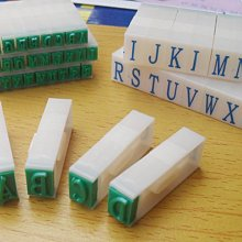 9mm Detachable English Letters A-Z Alphabet Stamp Set gift