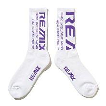 [ LAB Taipei ] REMIX BLEED CREW SOCKS LTD for RayRay [ 白紫 ]