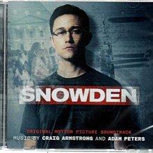 *【正價品】Snowden 神鬼駭客:史諾登//電影原聲帶~歐版 - 環球唱片、2016年發行