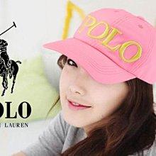 官網 Polo Ralph Lauren Hat 女孩款Logo淺粉紅色運動休閒鴨舌帽/棒球帽高爾夫球帽愛Coach包包