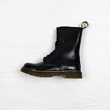Dr. Martens 1490 10孔 黑色 硬皮 經典款 馬汀靴 女鞋