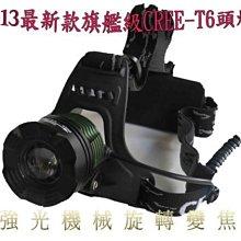 美國CREE XML T6機械變焦魚眼強光頭燈/配送兩顆台製保護版18650電池/可家用直充式/登山/釣魚/