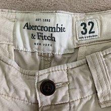 Abercrombie and Fitch A&F男生厚棉重磅工作褲 口袋褲 淺卡其色 九成新 32腰 腰圍平量42cm臀圍55cm腿圍33cm褲長52cm